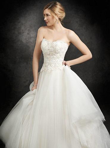 25d117b2661a Svatební šaty BE230 s luxusním krajkovým korzetem a tylovou sukní ...