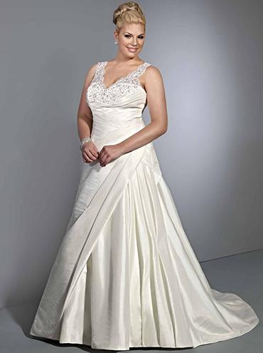 Krajkové svatební šaty pro plnoštíhlé SP3360 b10ba4eb9a