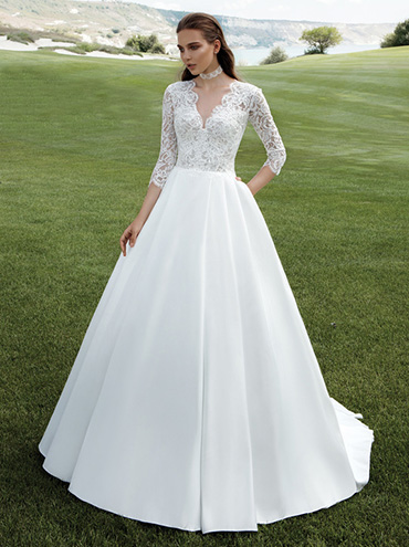 Krajkove Svatebni Saty Bernarda S Dlouhymi Rukavy Ala Kate Middleton