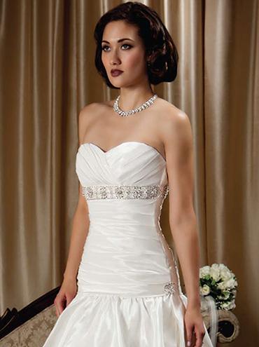 Taftové svatební šaty M1227L fd33f5fe2c