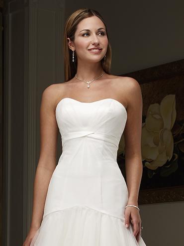 Krátké svatební šaty W8704L db8ad874351