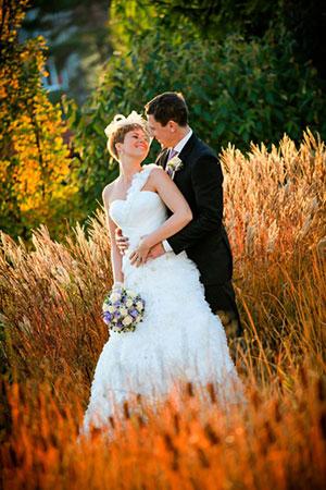 Nevěsta ve svatebních šatech
